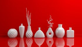 Composition with decorative pottery. Royalty Free Stock Images