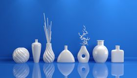 Composition with decorative pottery. 3d rendered interior composition with decorative pottery Stock Images