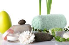Composition des accessoires d'hygiène et de bien-être Photo libre de droits