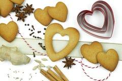 Composition des biscuits et des épices Photographie stock