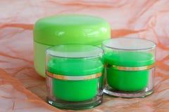 Composition des bouteilles cosmétiques Photo stock