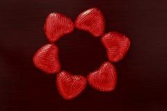Composition des coeurs rouges Photos stock
