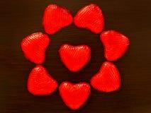 Composition des coeurs rouges Photographie stock