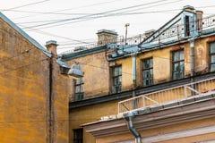 Composition des façades des immeubles Images stock