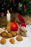 Composition des figurines de Noël Image stock