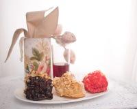Composition des gâteaux multicolores Image stock