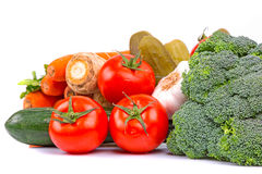 Composition des légumes frais Photographie stock