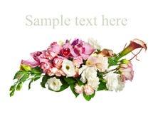 Composition des orchidées Images stock