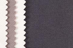 Composition des rayures colorées du tissu de coton dentelé Images libres de droits