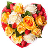 Composition des roses sous forme de coeur photo libre de droits
