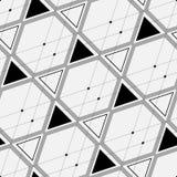 Composition des triangles, des hexagones et des lignes minces Images stock
