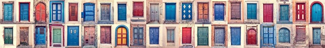 Doors of santorini Stock Photo