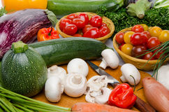 Composition with different fresh vegetables Royalty Free Stock Photo