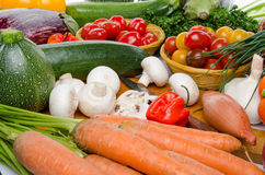 Composition with different fresh vegetables Stock Photography