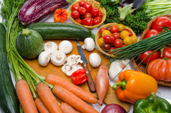 Composition with different fresh vegetables Royalty Free Stock Images