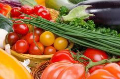 Composition with different fresh vegetables Royalty Free Stock Photos