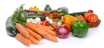 Composition with different fresh vegetables Stock Image