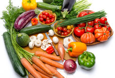 Composition with different fresh vegetables Stock Photos