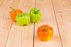 Composition of different peppers. Royalty Free Stock Photography