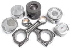 Composition of different rods and all kinds of pistons Stock Photography