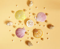 Composition of the different types of pearls Royalty Free Stock Photography