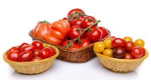 Composition of different varieties of tomatoes Royalty Free Stock Image