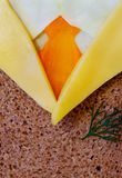 Composition from dill cheese bread carrot cabbage Royalty Free Stock Photo