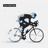Composition divergente en cyclistes Photo stock