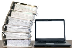 Composition of documents Royalty Free Stock Photo