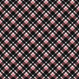 Red and Black Plaid Seamless Pattern vector illustration
