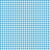 Smooth Gingham Seamless Pattern. Smooth light blue and white classic gingham texture stock illustration