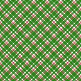 Red and Green Plaid Seamless Pattern. Red, white, and green plaid design stock illustration