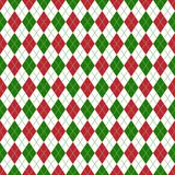 Red and Green Argyle Seamless Pattern royalty free illustration