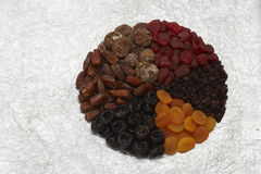 Composition with dried fruit Royalty Free Stock Images