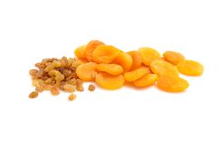 Composition from dried fruits on a  background #3. Royalty Free Stock Images