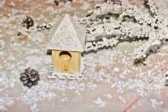 Composition du `s d'an neuf Chambre dans la neige photo stock