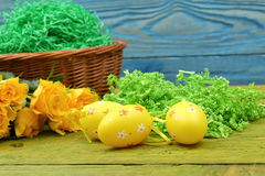 The composition of Easter. The compositions Easter frequently are used in feasts of the Christian rite. The leading country in rituals and nurturing traditions Royalty Free Stock Photography
