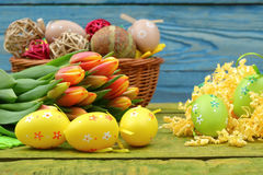 The composition of Easter. The compositions Easter frequently are used in feasts of the Christian rite. The leading country in rituals and nurturing traditions Royalty Free Stock Photo