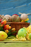 The composition of Easter. Stock Photos