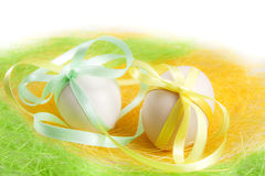 Composition of easter eggs Stock Image