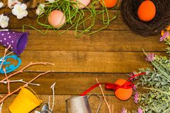 Composition for the Easter holiday royalty free stock photos