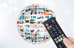 Composition en abrégé sur sphère de multimédia d'émission de télévision images libres de droits