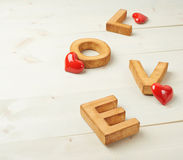 Composition en amour de Word Images stock