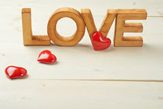 Composition en amour de Word Image stock