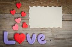Composition en amour de Word avec le coeur Image libre de droits