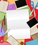 Composition de papier en courrier Image stock