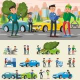 Composition en assurance auto illustration stock