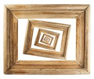 Composition en bois abstraite en cadre de tableau Photographie stock libre de droits