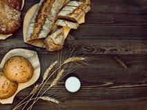 Composition en boulangerie Image libre de droits