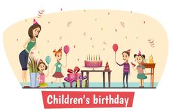 Composition en célébration d'anniversaire illustration stock